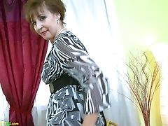 Cute, Granny, Horny, Masturbation, Mature, Seduction, Solo, Striptease,