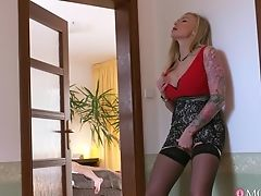 Amazing, Beauty, Bedroom, Big Tits, Blonde, Blowjob, Doggystyle, Fake Tits, HD, Horny,