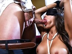 Babe, Bedroom, Big Tits, Bondage, Brunette, Cheating, Doggystyle, Erotic, Fake Tits, Husband,