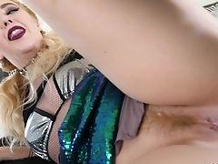 Ball Licking, Blonde, Blowjob, Blue Eyed, Doggystyle, Handjob, Hardcore, MILF, Mmf, Ponytail,
