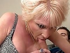 Aunt, Blonde, Blowjob, Cumshot, Dick, Handjob, HD, Mature, Old And Young, Short Haired,