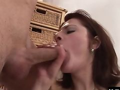 Ball Licking, Brunette, Chubby, Clothed Sex, Couch, Couple, Doggystyle, Fingering, Gaping Hole, Hardcore,