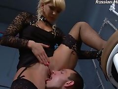 Ass Licking, Femdom, Fetish, High Heels, Juicy, Legs, Licking, Nylon, Pussy, Russian,