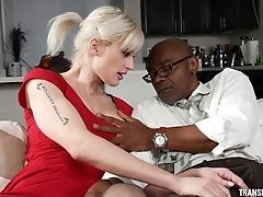 Anal Sex, Blonde, Blowjob, Bondage, Couch, Cowgirl, Cumshot, Doggystyle, Facial, Fake Tits,
