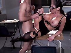 Amateur, Audrey Bitoni, Big Tits, Blowjob, College, Doggystyle, Handjob,